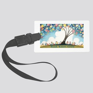 Magical Reading Tree Large Luggage Tag