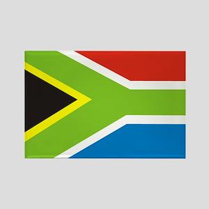 Rasta Gear South African Flag Rectangle Magnet