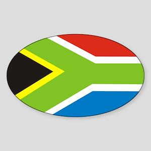 Rasta Gear South African Flag Oval Sticker