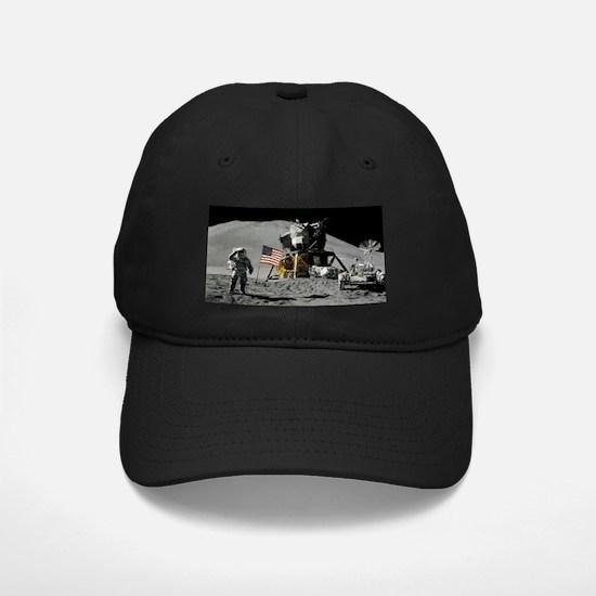 Apollo Moon Flag Salute USA Baseball Hat