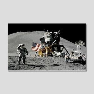 Apollo Moon Flag Salute USA Car Magnet 20 x 12
