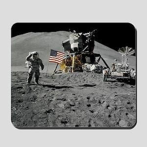 Apollo Moon Flag Salute USA Mousepad