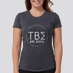 Tau Beta Sigma Circle Womens Tri-blend T-Shirt