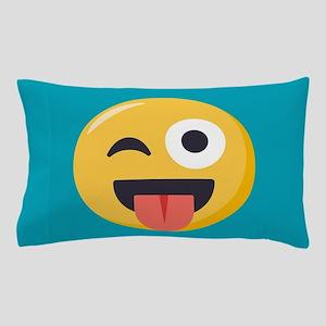Winky Tongue Emoji Pillow Case