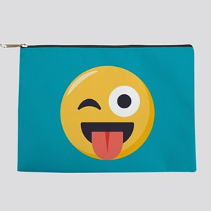 Winky Tongue Emoji Makeup Pouch
