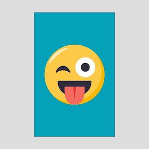 Winky Tongue Emoji Mini Poster Print