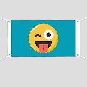 Winky Tongue Emoji Banner