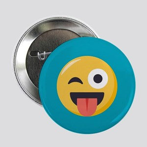 "Winky Tongue Emoji 2.25"" Button (10 pack)"