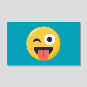 Winky Tongue Emoji Car Magnet 20 x 12