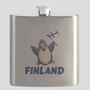 Finland Penguin Flask