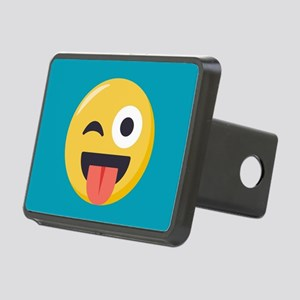 Winky Tongue Emoji Rectangular Hitch Cover