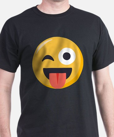 Winky Tongue Emoji T-Shirt