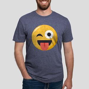 Winky Tongue Emoji Mens Tri-blend T-Shirt