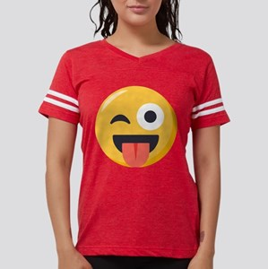 Winky Tongue Emoji Womens Football Shirt