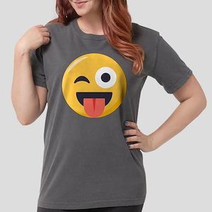 Winky Tongue Emoji Womens Comfort Colors Shirt