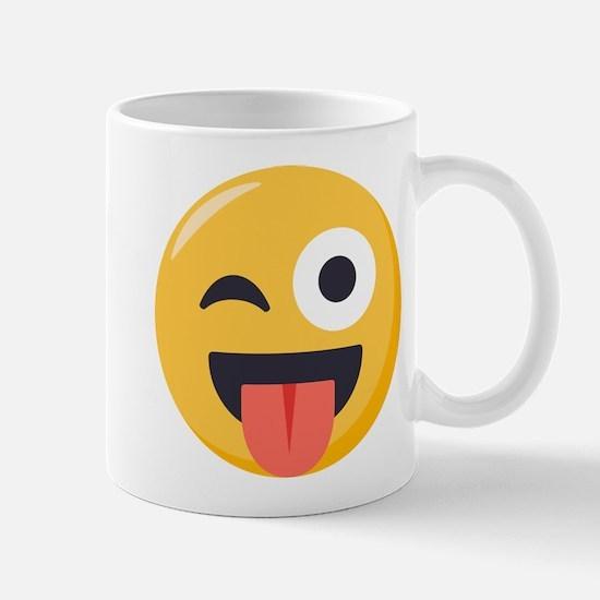 Winky Tongue Emoji Mug
