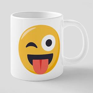 Winky Tongue Emoji 20 oz Ceramic Mega Mug