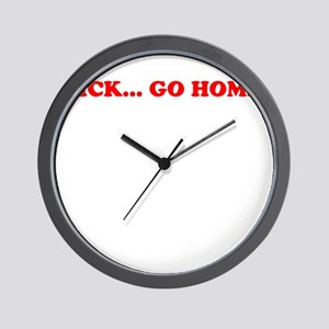 Nick Go Home Wall Clock