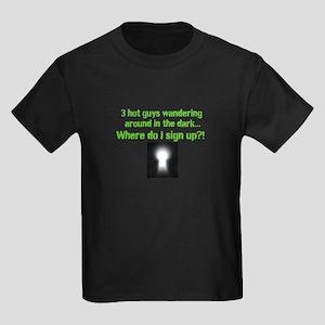 3 hot guys Kids Dark T-Shirt