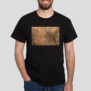 Vintage United States Map (1883) T-Shirt