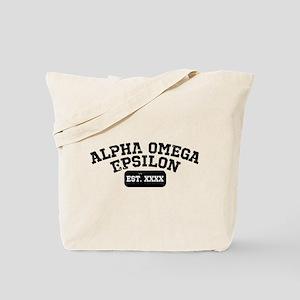 Alpha Omega Epsilon Athletic Personalized Tote Bag