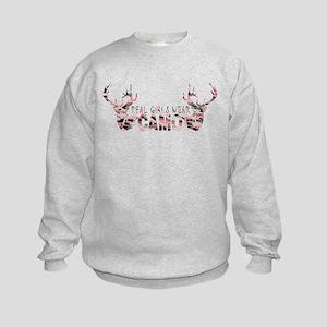 REAL GIRLS WEAR CAMO Kids Sweatshirt