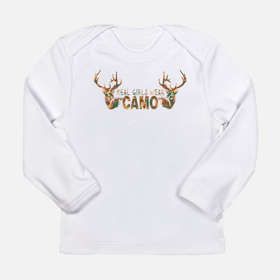 REAL GIRLS WEAR CAMO Long Sleeve Infant T-Shirt