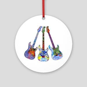Wild Guitar Ornament (Round)