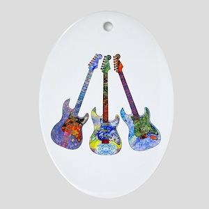 Wild Guitar Ornament (Oval)
