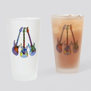 Wild Guitar Drinking Glass