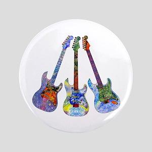 """Wild Guitar 3.5"""" Button"""