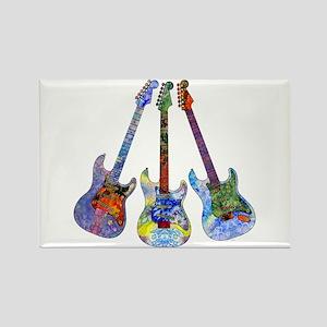 Wild Guitar Rectangle Magnet