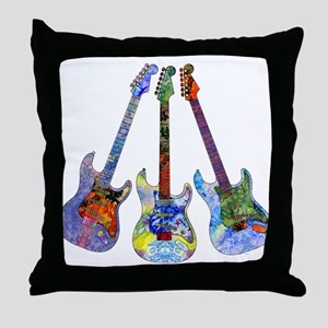 Wild Guitar Throw Pillow