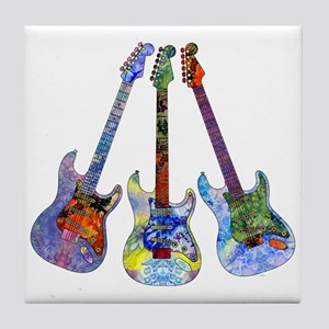 Wild Guitar Tile Coaster