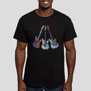 Wild Guitar Men's Fitted T-Shirt (dark)