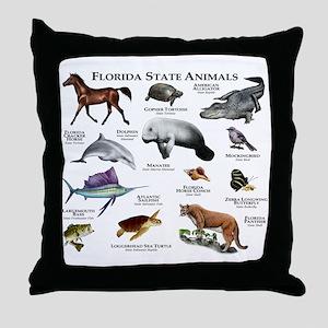 Florida State Animals Throw Pillow