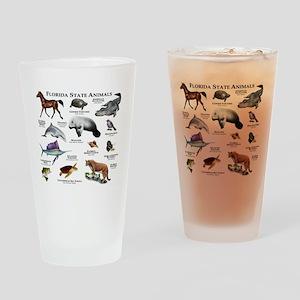 Florida State Animals Drinking Glass