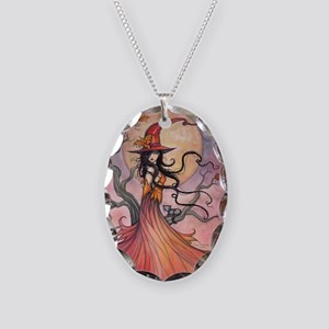 Autumn Magic Necklace Oval Charm