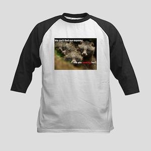 Anti-Fur Raccoon Dog pups Kids Baseball Jersey