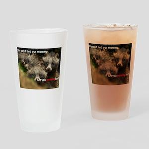 Anti-Fur Raccoon Dog pups Drinking Glass