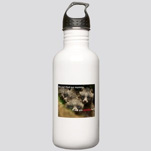 Anti-Fur Raccoon Dog pups Stainless Water Bottle 1