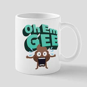 Emoji Poop Oh Em Gee 11 oz Ceramic Mug