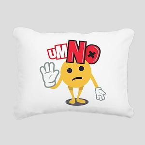 Emoji Um No Rectangular Canvas Pillow
