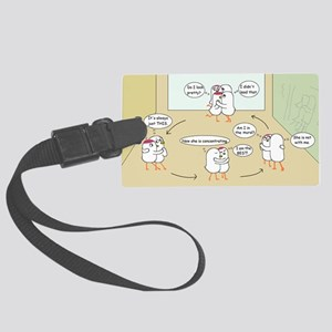 Distraction Large Luggage Tag