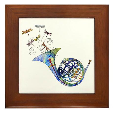 Wild French Horn Framed Tile