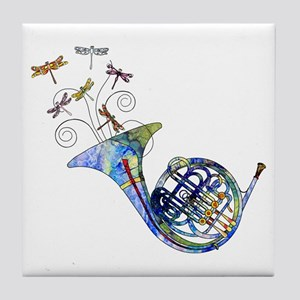 Wild French Horn Tile Coaster