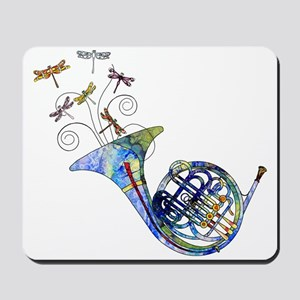 Wild French Horn Mousepad