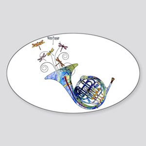 Wild French Horn Sticker (Oval)