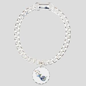 Wild French Horn Charm Bracelet, One Charm
