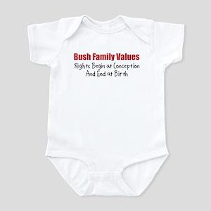 Bush Family Values Infant Creeper